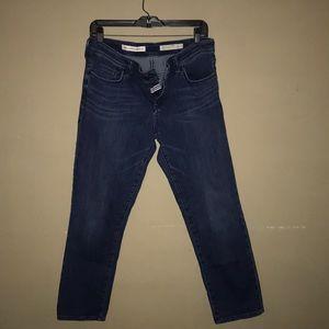 Pilcro Mid-Rise Hyphen Dark Wash Jeans